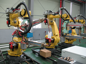 Automation Robots at Electronic Control Corporation