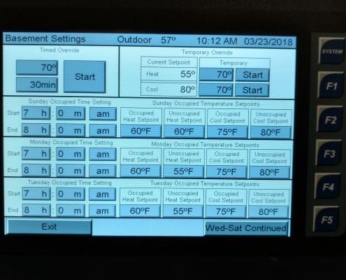 Geothermal HVAC Custom HMI Control designed by ECC Automation
